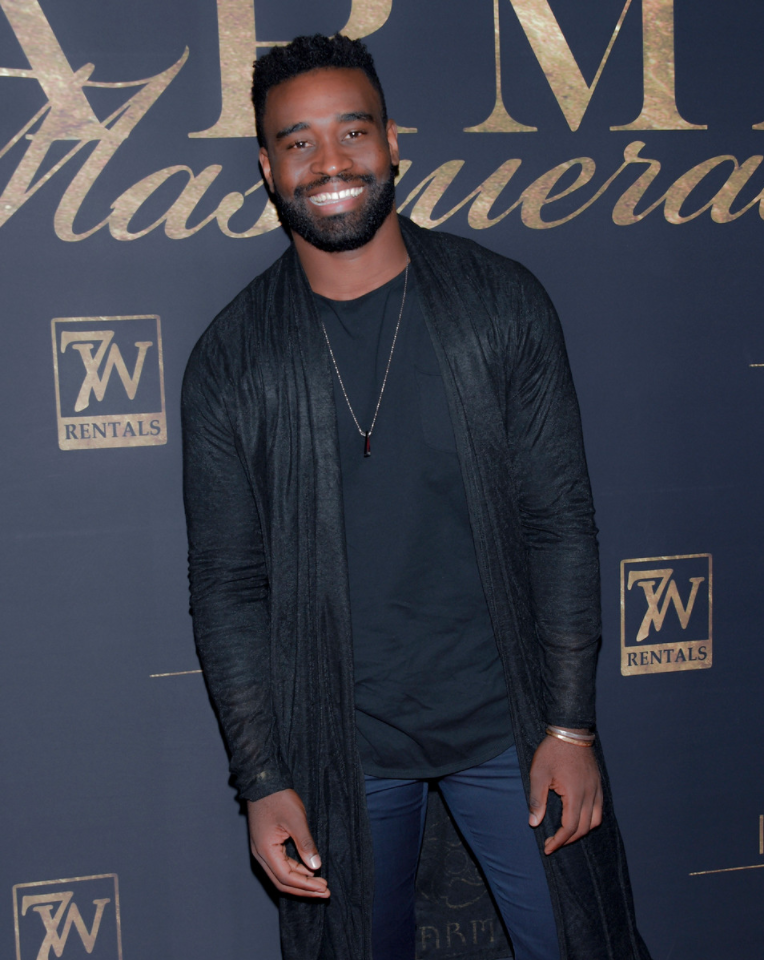 "DWTS pro Keo Motsepe was all smiles as he attended Karma International's 9th Annual ""Karma Masquerade"" at Liaison Lounge in Hollywood, CA on Saturday night. Photo Credit: Michael Bezjian / WireImage"