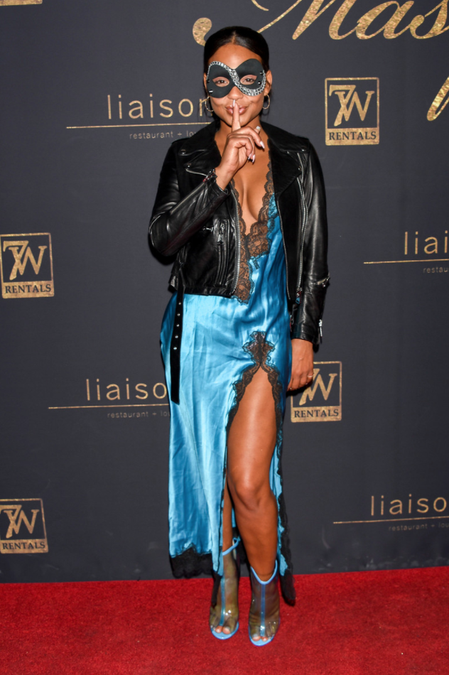 Christina Milian Enjoyed a Night Out on the Town at Karma International's 9th Annual 'Karma Masquerade.' Photo Credit: Michael Bezjian / WireImage