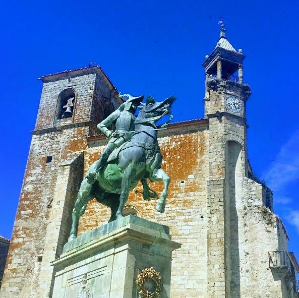 The Powerful Statue of Francisco Pizarro, Conqueror of Peru, in The Main Square of Trujillo!