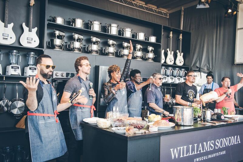 Williams Sonoma Culinary Stage Paired Favorite Musical Acts and Celebrities with Top Chefs for a Unique Mash Up of Deliciousness! Photo Credit: Courtesy BottleRock Napa Valley
