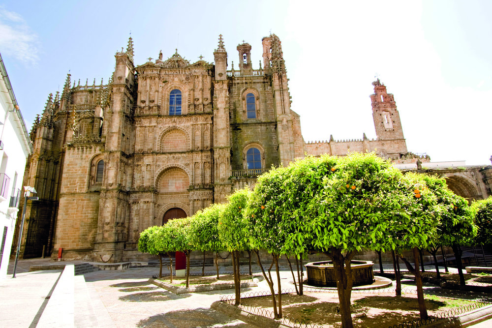 The 'Old Cathedral' and The 'New Cathedral,' Are The Two Cathedrals in Plasencia. The Cathedrals Showcase Different Styles in Architecture. While The Old Cathedral Was Built in the 13th Century and Showcases a Romanesque Style, The New Cathedral Was Built in the 15th Century and Showcases a Gothic Style. Photo Credit: Courtesy of Extremadura Tourism Board