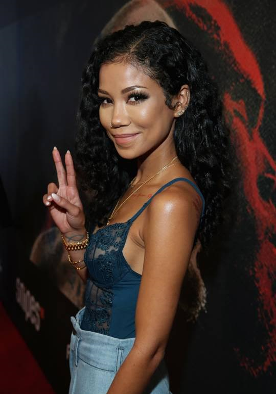 """Pose To Be"" singer Jhene Aiko attends the Premiere of Riveting Entertainment's ""Chris Brown: Welcome To My Life"" at L.A. LIVE. Photo Credit: Jonathan Leibson/Getty Images for Riveting Entertainment"