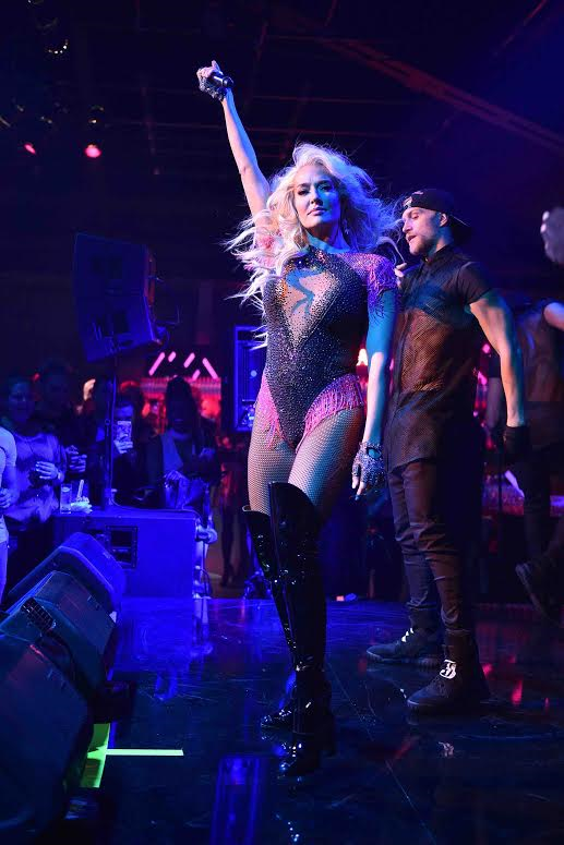 Erika Jayne Amping the Crowd!Photo Credit: Michael Simon/StarTrakPhotos.com