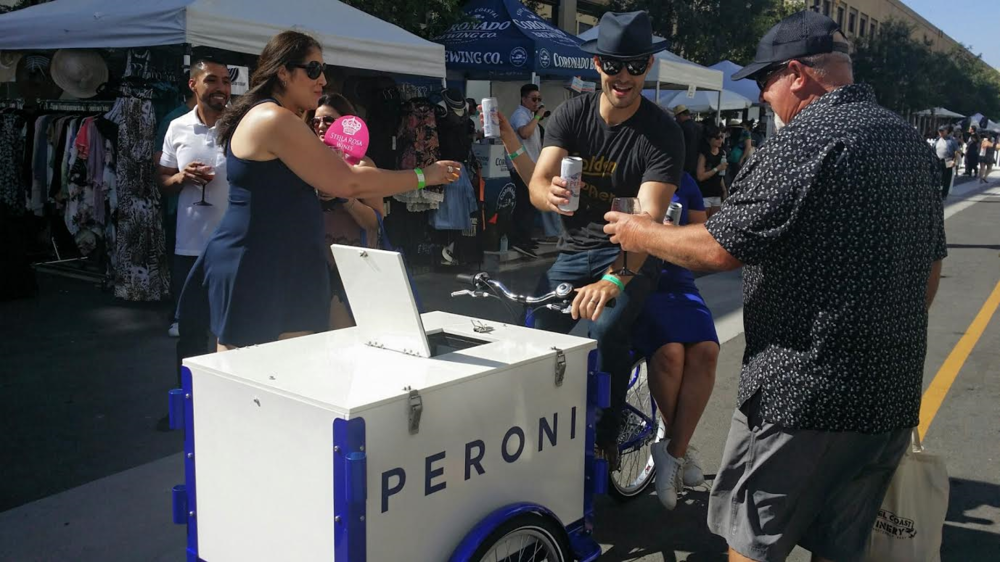 Cheers to Beers --- on Wheels! Peroni Kept the Party Going by Delivering Beers to Attendees!