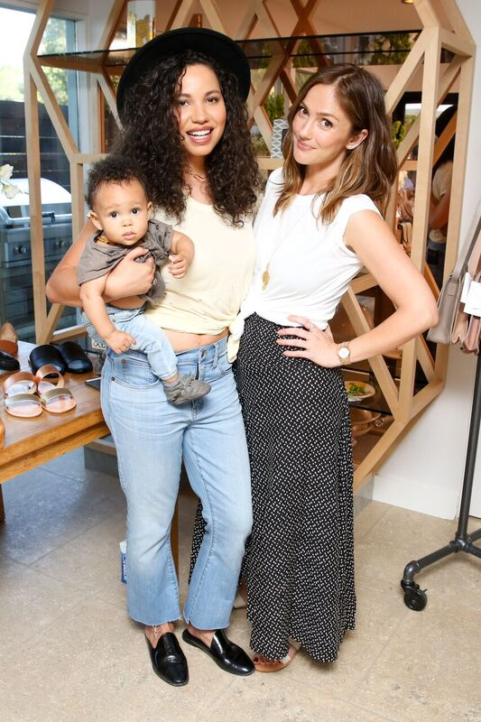 Minka Kelly with Jurnee Smollett - Bell Both Sported n:Philanthropy Tops. Photo Credit: Marc Patrick/BFA