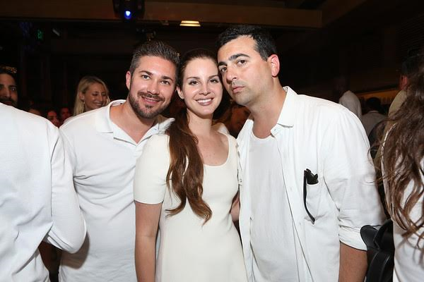 Lana Del Ray with John Ehmann of Interscope Records and John Terzian of The h.wood Group. Photo Credit: Tasia Wells/ Getty Images