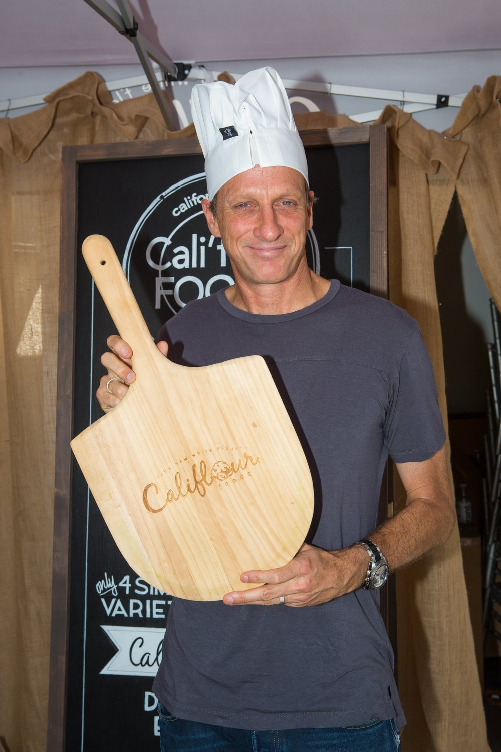 Tony Hawk Gave His Best Shot at the Cali'Flour Food Table! Courtesy Photo