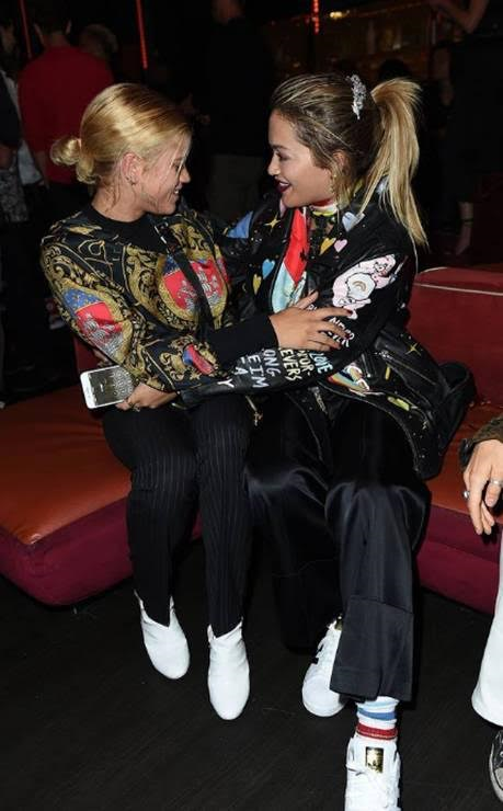 Rita Ora shows nothing but love for her girl Sofia Richie at the TINGS Magazine Launch Party at Nightingale on Wednesday, August 23 in Los Angeles, CA (Photo Credit: Jordan Strauss | Invision for TINGS Magazine)