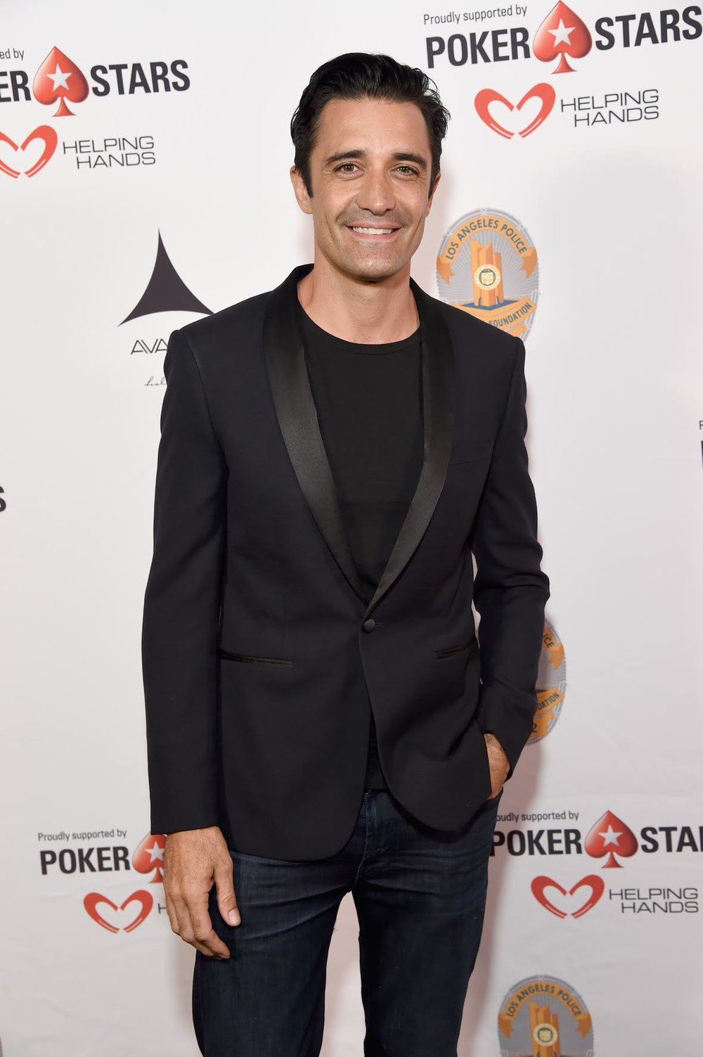 Gilles Marini looked dapper in black while attending the  Heroes for Heroes:   Los Angeles Police Memorial Foundation  Celebrity Poker Tournament & Casino Night Party, supported by    PokerStars Helping Hands  at the Avalon in Hollywood.  Photo Credit: Michael Kovac  / Getty Images