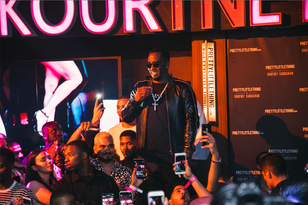 "P. Diddy closed out the Kardashian bash by rapping his hits, ""I Need A Girl"" and ""Mo' Money Mo' Problems."" Photo Credit: Pretty Little Thing"