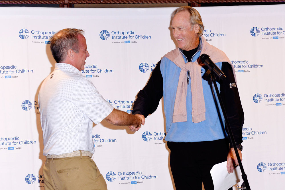 Vice President and Chief Philanthropy Officer for Orthopaedic Institute for Children Michael P. Sullivan and actor Craig T. Nelson attend 2017 Swing for Kids Golf Tournament benefitting Orthopaedic Institute for Children on November 6, 2017 in Palos Verdes Estates, California. Photo by Jerod Harris/Getty Images for Orthopaedic Institute for Children.