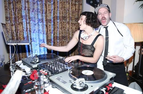 DJ Mia Moretti and Johnny Wujek at the LAND of distraction Launch Party at Chateau Marmont on November 30, 2017 in Los Angeles, California. (Photo by Jonathan Leibson | BFA for LAND of distraction)