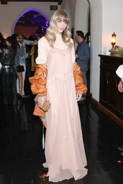 Jaime King stunned in her LAND of distraction ensemble at the brands launch party at Chateau Marmont on November 30, 2017 in Los Angeles, California. (Photo by Jonathan Leibson | BFA for LAND of distraction)
