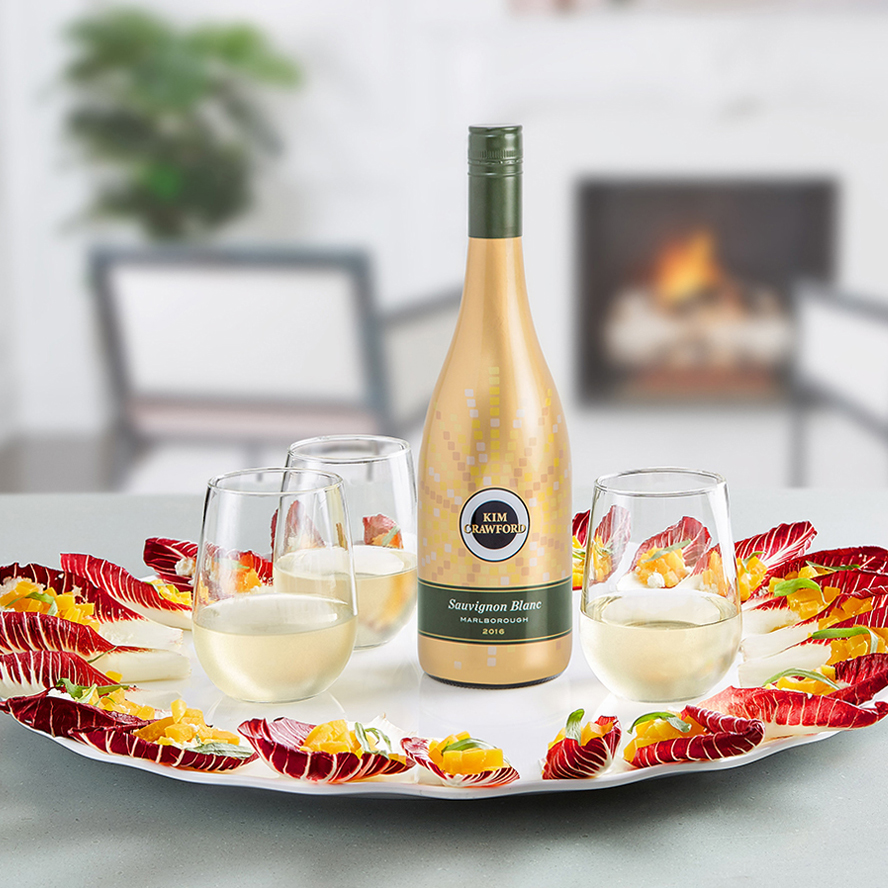 This special limited edition holiday bottle of Kim Crawford Wines' Sauvignon Blanc retails for $17.99! Courtesy Photo