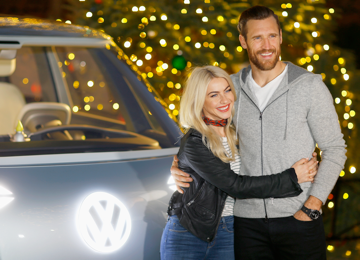 Julianne Hough & Brooks Laich attend the Volkswagen Holiday Drive-In Event at Raleigh Studios in Los Angeles, CA on Saturday, December 16th. Getty Images / Jennifer Graylock & Justin Edmonds