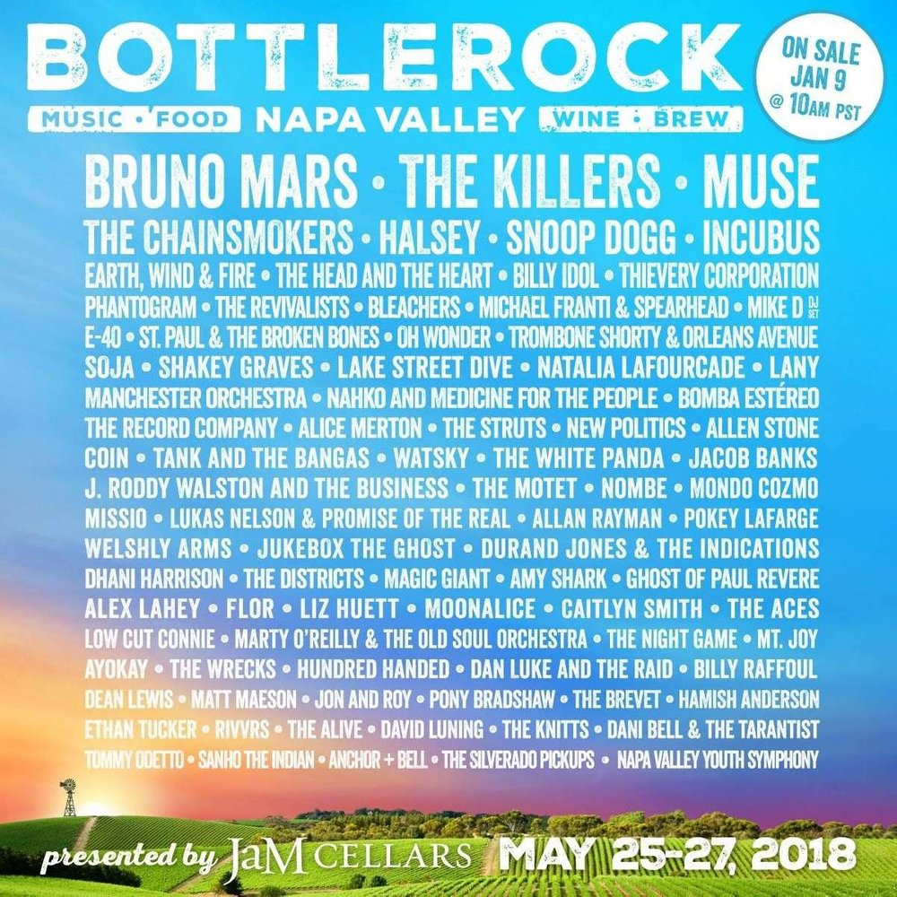 Courtesy of BottleRock Napa Valley