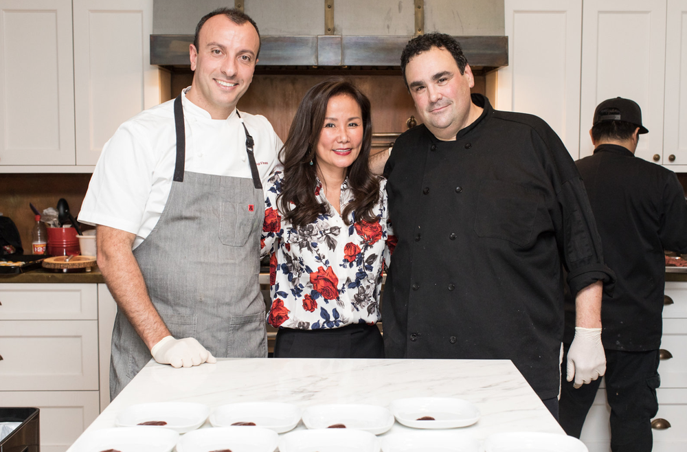 (From Left to Right) Michelin Starred Chef Luigi Fineo, ChefDance CEO Mimi Kim. Photo Credit: Jennifer Johnson