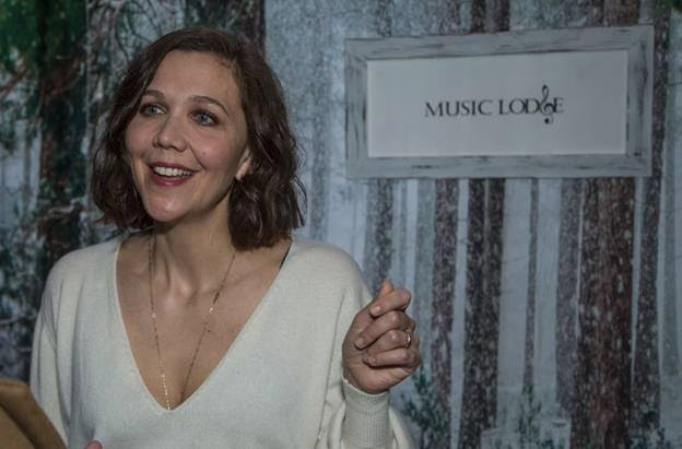 Maggie Gyllenhaal arrives at the Music Lodge hosted by influencer marketing program, IconicReach during the Sundance Film Festival on Friday, January 19. (Photo Credit: Miles Mortensen | AP Images for IconicReach)
