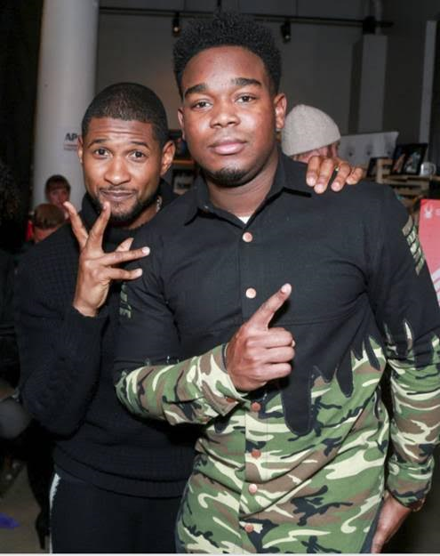 """Usher and Dexter Darden promoting their Sundance film, """"Burden"""" at the Music Lodge hosted by influencer marketing program, IconicReach during the Sundance Film Festival on Friday, January 20. (Photo Credit: Miles Mortensen 