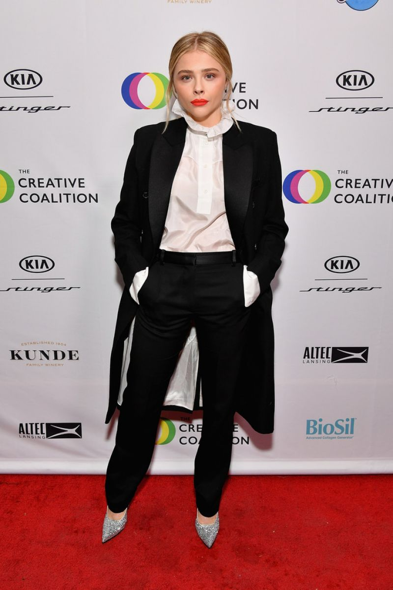 Chloe Grace Moretz attended the 2018 Spotlight Initiative Awards Gala Dinner at Kia Supper Suite on January 21, 2018 in Park City, Utah.
