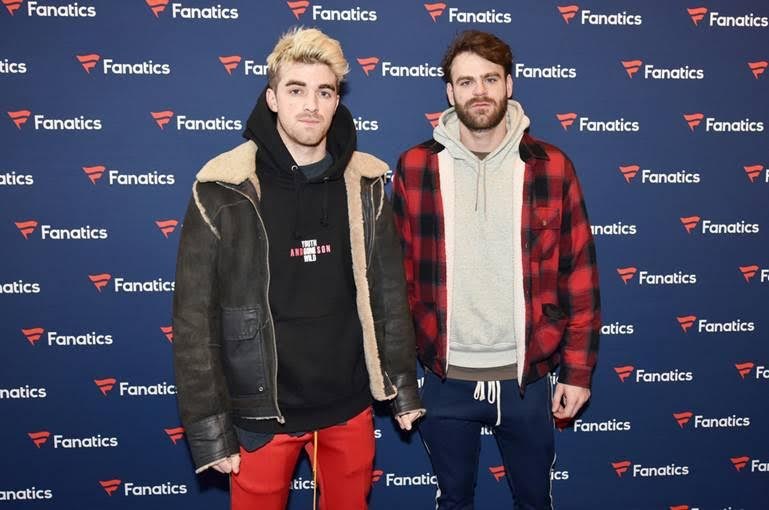 Andrew Taggart and Alex Pall of The Chainsmokers arrive at the Fanatics Super Bowl Party on February 3, 2018 in Minneapolis, Minnesota.(Photo by Daniel Boczarski | Getty Images for Fanatics)