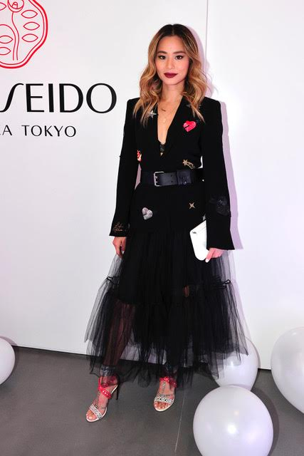 Jamie Chung  celebrate the launch of Shiseido Essential Energy in Los Angeles. Photo Credit:  Michael Simon