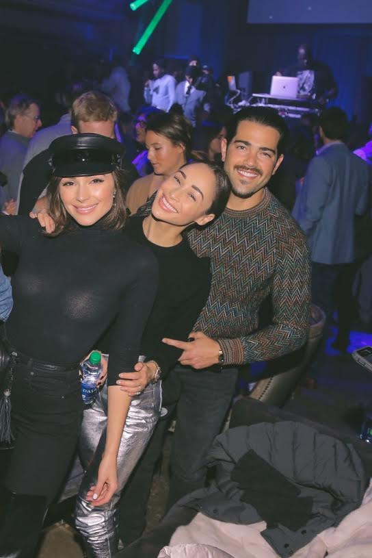 Olivia Culpo, Jesse Metcalfe & Cara Santana had tons of fun at the Bootsy Bellows after party of The Big Game Experience in Minneapolis MN, presented by American Airlines + Casper, with specialty sips by Absolut Elyx, and late night bites by McDonald's.  Photo Credit:  Dennis Kwan