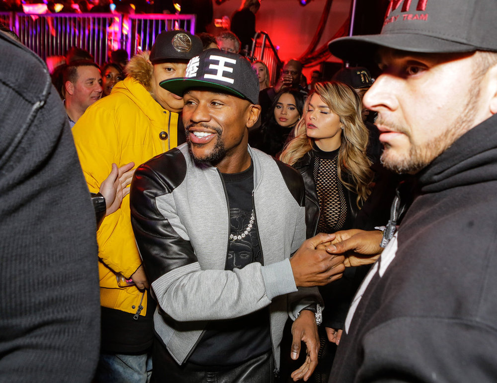 Floyd Mayweather Jr. attends the 2018 MAXIM party produced By Karma International on February 3, 2018 in Minneapolis, Minnesota. (Photo by Tiffany Rose/Getty Images for Maxim)