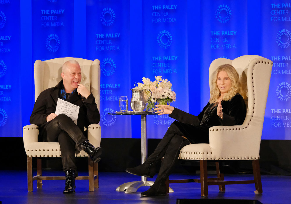 Ryan Murphy with Barbara Streisand As They Kick Off PaleyFest! Photo Credit: Michael Bulbenko for The Paley Center