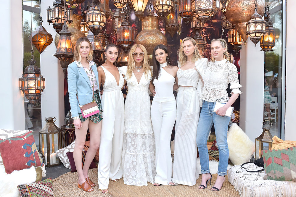 (L-R) Whitney Port, Olivia Culpo, Rachel Zoe, Victoria Justice, Sara Foster and Erin Foster attend ZOEasis 2018 at Parker Palm Springs on April 13, 2018 in Palm Springs, California. Photo Credit: Stefanie Keenan/Getty Images for Rachel Zoe Inc.