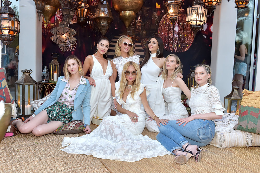 (L-R) Whitney Port, Olivia Culpo, Paris Hilton, Rachel Zoe, Victoria Justice, Sara Foster and Erin Foster attends ZOEasis 2018 at Parker Palm Springs on April 13, 2018 in Palm Springs, California. Photo Credit: Stefanie Keenan/Getty Images for Rachel Zoe Inc.