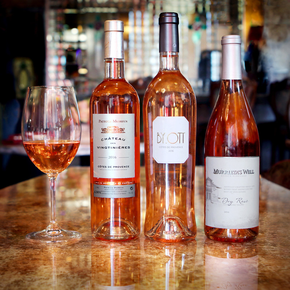 Who Doesn't Love an Impressive Selection of Rosé?  Photo Credit: Cathy Arkle