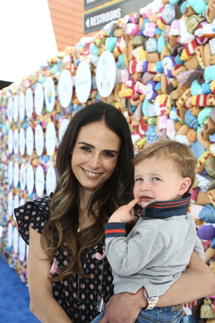 Jordana Brewster and son attend the We All Play by ShareWell at the future home of the Cayton Children's Museum at Santa Monica Place.  Photo Credit:  Tommaso Boddhi