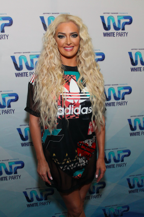 Erika Jayne posed for photos while celebrating  Jeffrey Sanker's 29th Annual White Party  in Palm Springs. Photo Credit: Marques Daniels