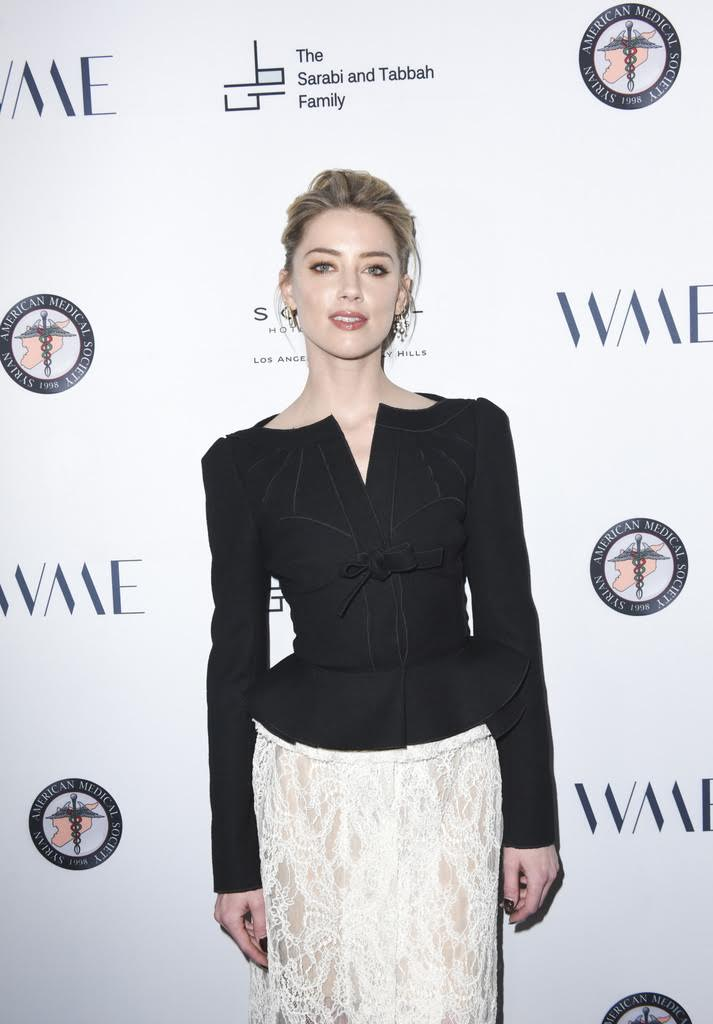 Amber Heard attends SAMS Benefit for Syrian Refugees on May 4, 2018 in Beverly Hills, California. Photo Credit: Vivien Killilea.