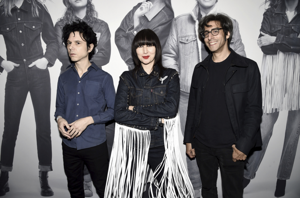 Karen O ,  Nick Zinner ,  Brian Chase  of the Yeah Yeah Yeahs! What a Way to Kick Off the Celebration! Photo Courtesy of   Levi's®