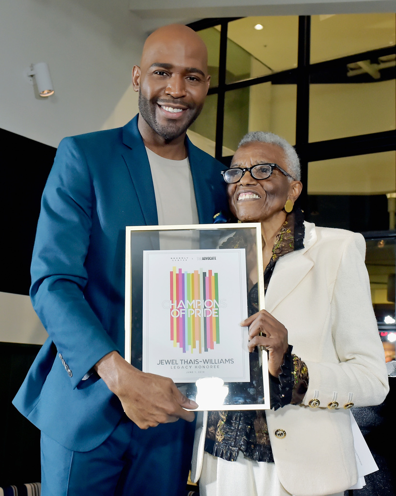 Karamo Brown (L) and Honoree Jewel Thais-Williams. Photo by Stefanie Keenan/Getty Images for Beverly Center.