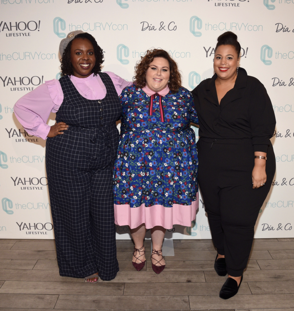 Co-founder of theCURVYcon CeCe Olisa, actress Chrissy Metz, and co-founder of theCURVYcon Chastity Garner attend 3rd annual theCURVYcon presented by Dia&Co during New York Fashion Week on September 9, 2017 in New York City. (Photo by Bryan Bedder/Getty Images for Curvy Events, LLC)