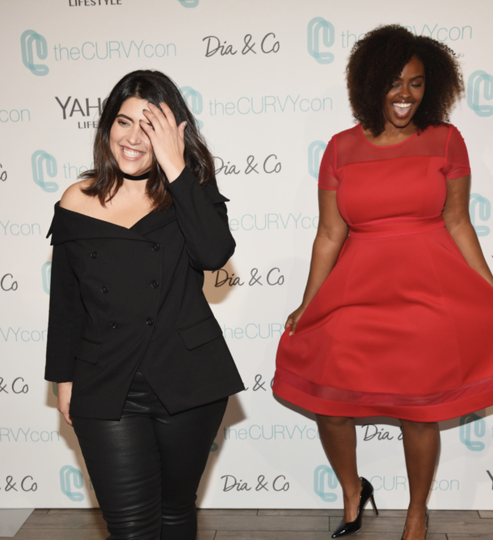 Models pose backstage at 3rd annual theCURVYcon presented by Dia&Co during New York Fashion Week on September 9, 2017 in New York City. (Photo by Bryan Bedder/Getty Images for Curvy Events, LLC)