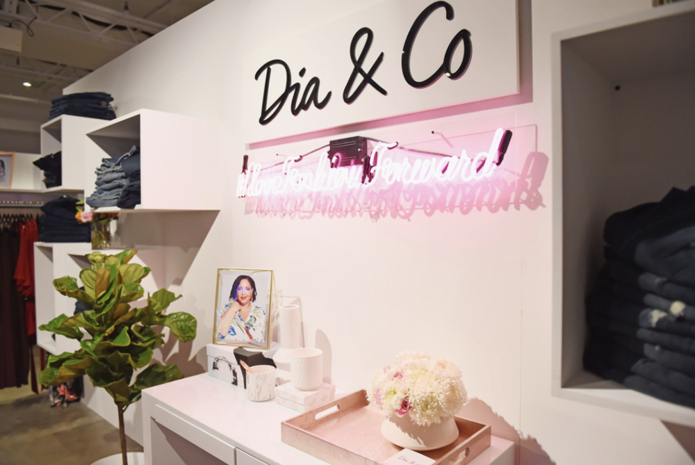 A view of booth decor during the Dia&Co fashion show and industry panel at the CURVYcon at Metropolitan Pavilion West on September 8, 2017 in New York City. (Photo by Daniel Zuchnik/Getty Images for Dia&Co,)