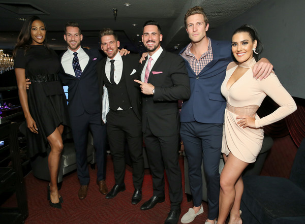 Kim Glass, Chase McNary, Joss Mooney, Josh Murray, Corey Brooks and Leia Sergakis attend Babes for Boobs Live Auction Benefiting Susan G. Koman LA (#BBAUCTION) at El Rey Theatre on June 7, 2018 in Los Angeles, California. (Photo Credit: Rebecca Sapp/Getty Images for BABES FOR BOOBS)