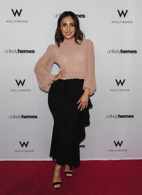 Francia Raisa attends the Unlikely Heroes Nights of Freedom LA with Tito's Handmade Vodka and BeatBox Beverages on June 21, 2018 in Hollywood, California.  (Photo by Michael Bezjian |Getty Images for Unlikely Heroes)