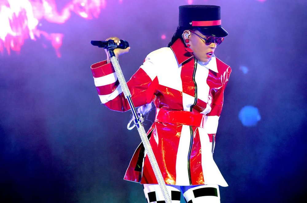 Janelle Monáe performs Thursday night at the Greek Theatre. (Kevin Winter / Getty Images)