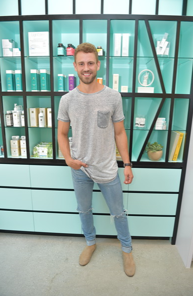Former Bachelor, Nick Viall gets hist first facial at Face Haus USC. Photo Credit: Vivien Killilea