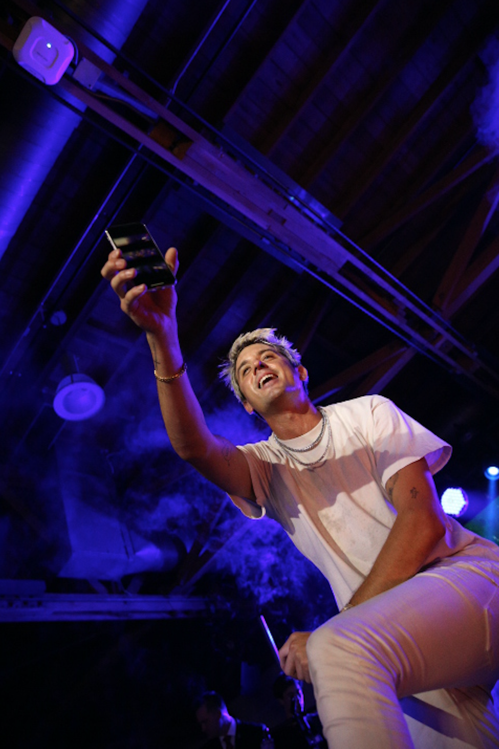 G-Eazy was animated with the crowd while performing at  The Kandy Halloween Party produced by Karma International  over the weekend in Hollywood, CA, which was sponsored by  Heineken  and  Luc Belaire .