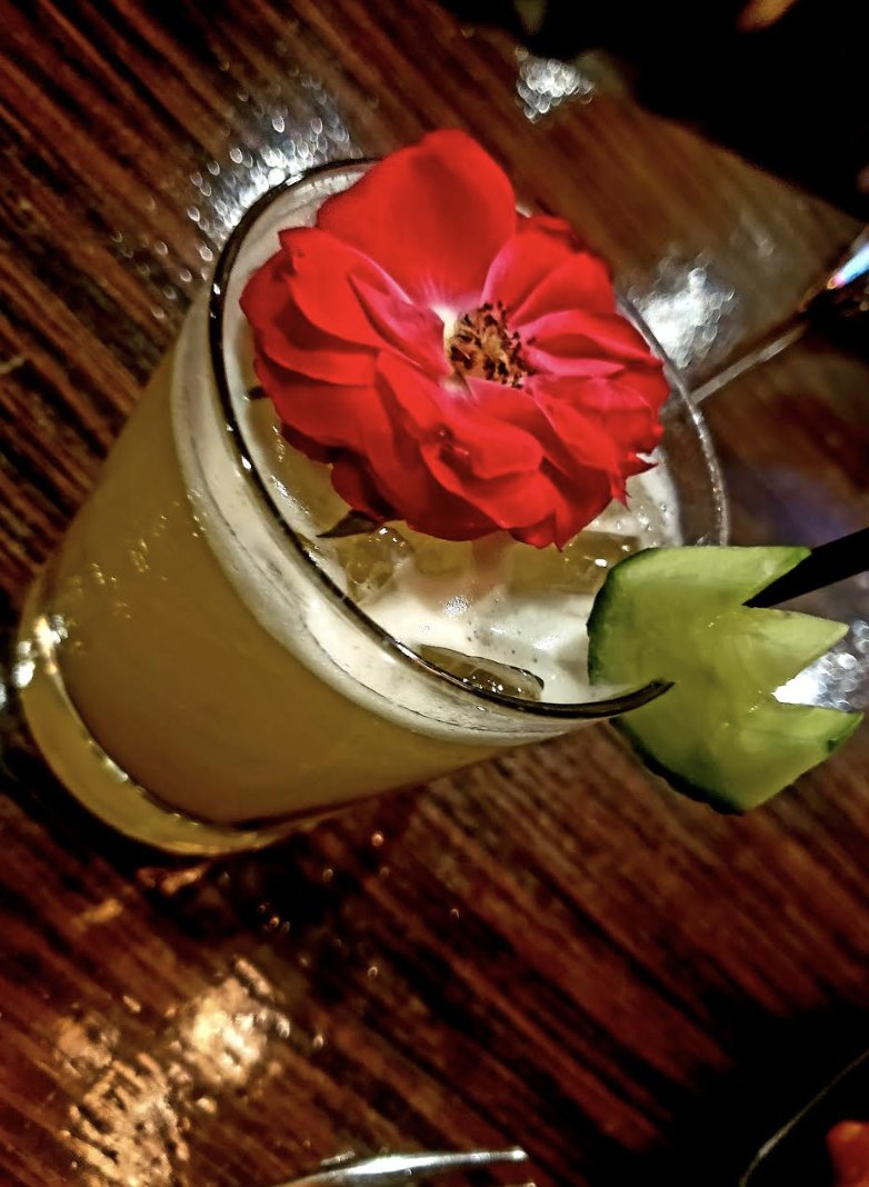 A Picturesque Beverage for the Evening to Match!