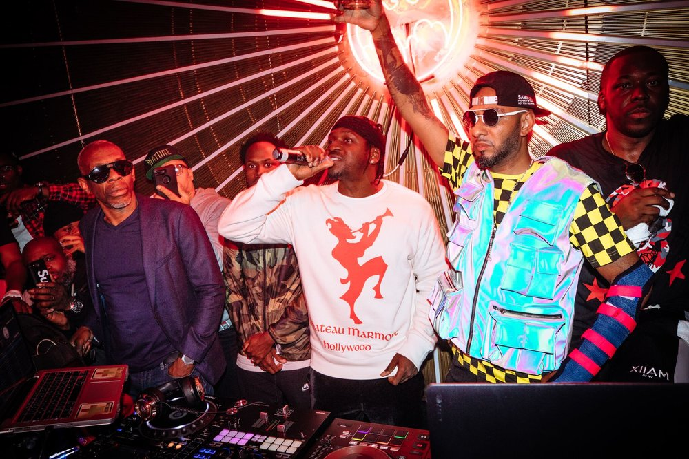 Pusha T Hyped the Crowd with His Hit Singles. BACARDI Rum Room in Los Angeles  Photo Credit: Alexander Eggebeen
