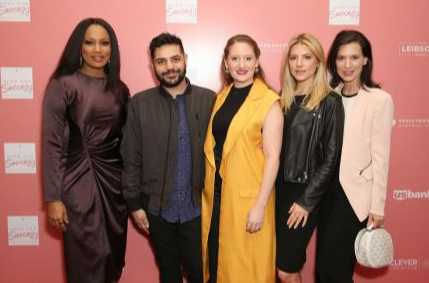 Garcelle Beauvais, Michael Costello, Perrey Reeves, and Katheryn Winnick co-host the Shop for Success VIP Opening, benefitting Dress For Success Worldwide West LA. Photo Credit: Getty