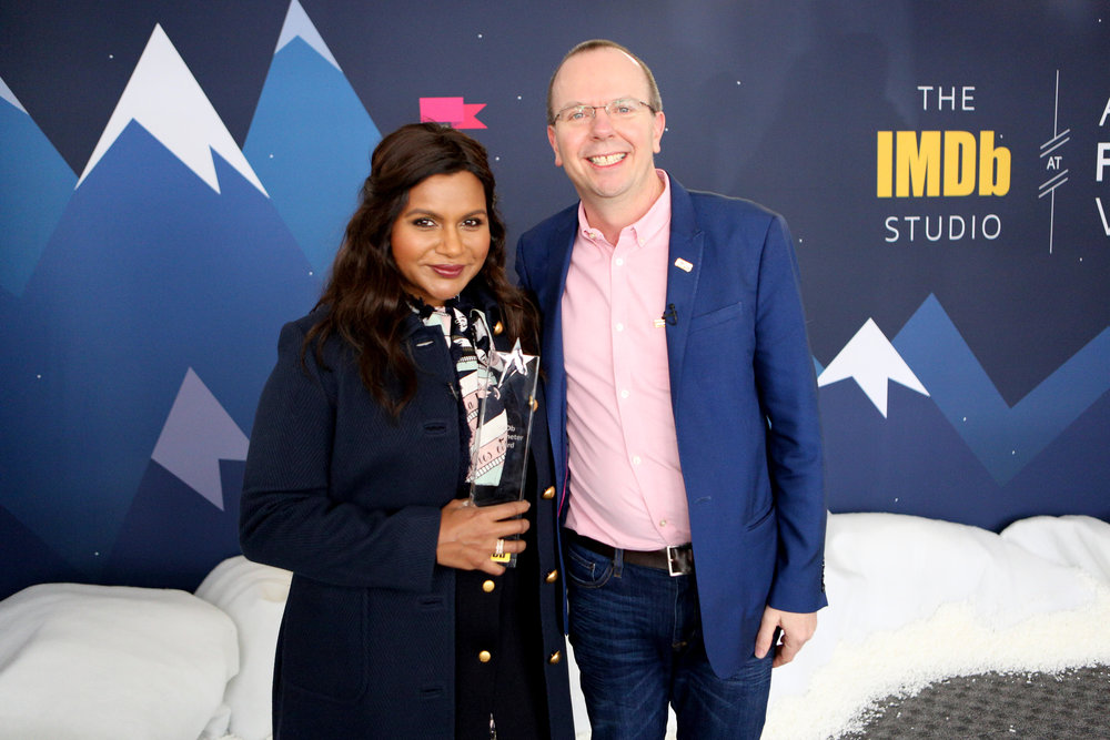 Mindy Kaling Receives the IMDb STARmeter Award at the 2019 Sundance Film Festival In Park City. Photo Credit: Getty Images for IMDb