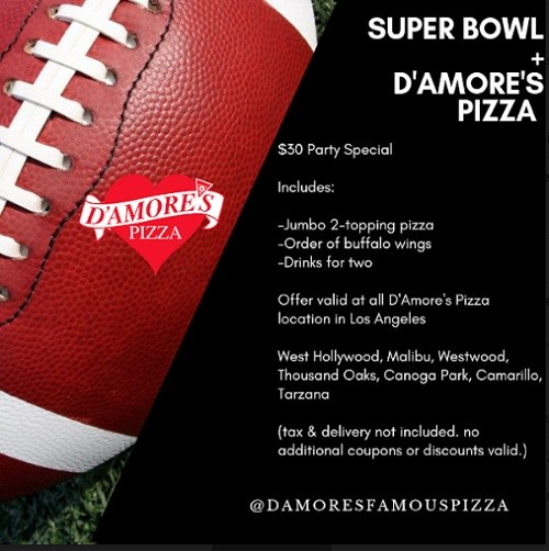 Photo Courtesy of D'Amores Famous Pizza